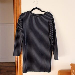 Zara Navy Blue Striped Dress
